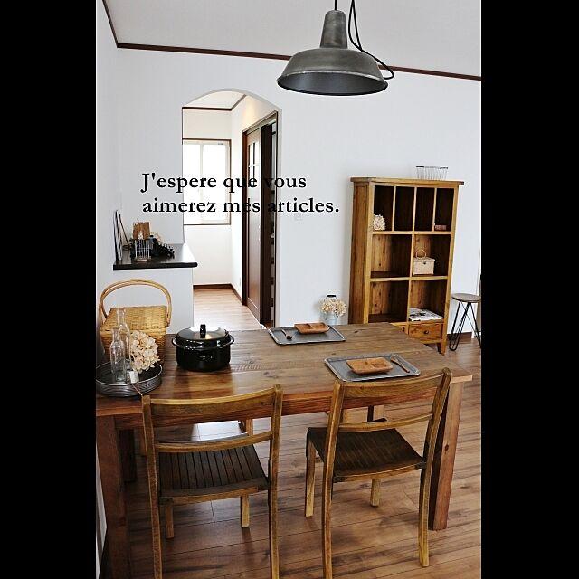 カフェ風,TRUCK,インダストリアル,R壁,モデルハウスコーディネート,古材風家具のインテリア実例 | RoomClip (ルームクリップ)