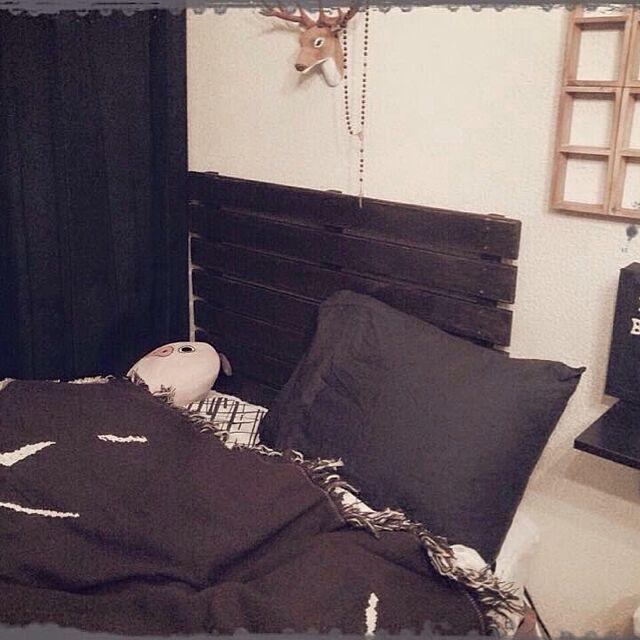 ベッド周り/すのこ/DIY/IKEAのインテリア実例 - 2015-06-26 16:15:55