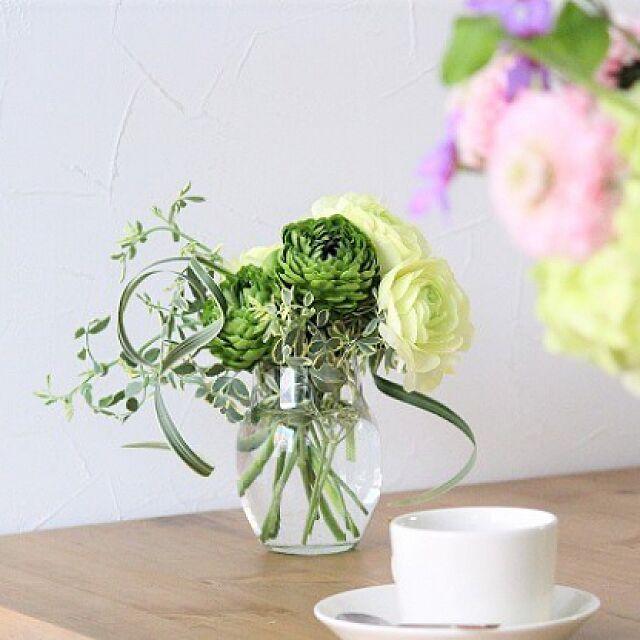 花のある暮らし/花器/フラワーベース/花のある生活/アンジェ...などのインテリア実例 - 2017-04-09 23:51:10