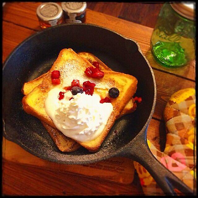 キッチン/おうちcafe/インテリアじゃなくてすみません。/たべもの/スキレット...などのインテリア実例 - 2015-06-29 13:15:26