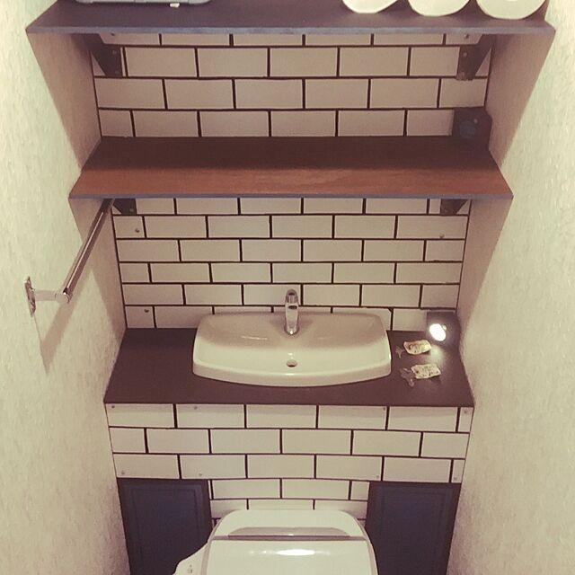 バス/トイレ/タンクレストイレが出来上がるまで/ペイント壁/ペンキ壁/トイレDIYタンクレス...などのインテリア実例 - 2017-05-13 21:55:47