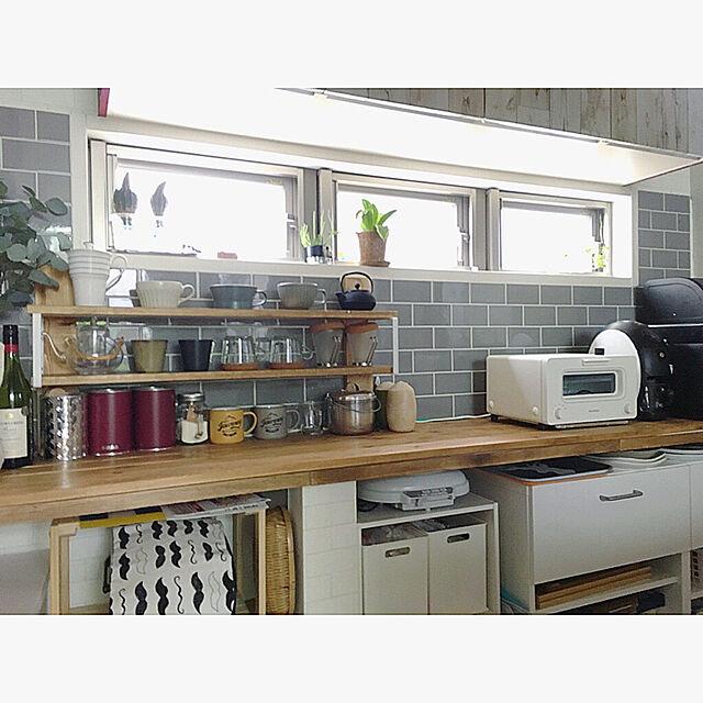 Kitchen/タイル/模様替え/DIY/IKEA...などのインテリア実例