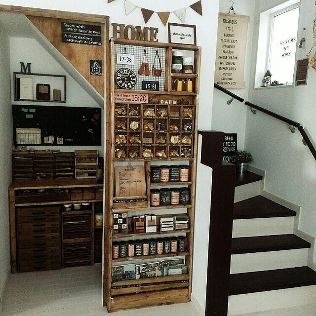 Lounge,階段,書類棚,階段下収納,引出し,みんなの作品♡のインテリア実例   RoomClip (ルームクリップ)