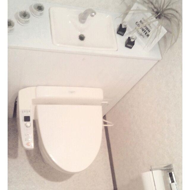 Bathroom,いいね♥300人感謝です♥,DIY⇒タンクレス♥,●主人のDIY●,●今日のおすすめ30枚!⇒Thanks●,2016.12.20♥,水栓レバー⇒うちはアイボルト♥,Daily Room Clip 965♥,保存件数10件代,〇のインテリア実例 | RoomClip (ルームクリップ)