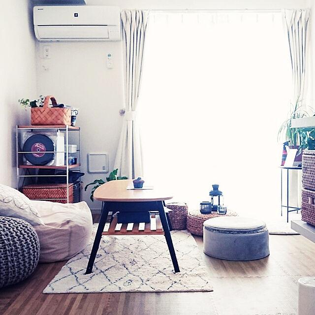 Lounge/1K/ひとり暮らし/狭いけど諦めない!/ニトリ...などのインテリア実例