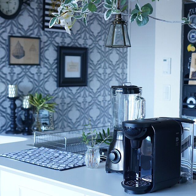 Kitchen/おうちカフェ/コーヒーメーカー/DRIP POD/セルフリノベ...などのインテリア実例