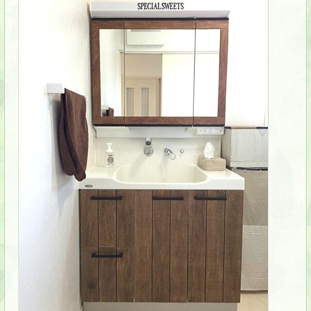 Bathroom,DIY,カフェ風,男前,ブログやってます♪のインテリア実例 | RoomClip (ルームクリップ)