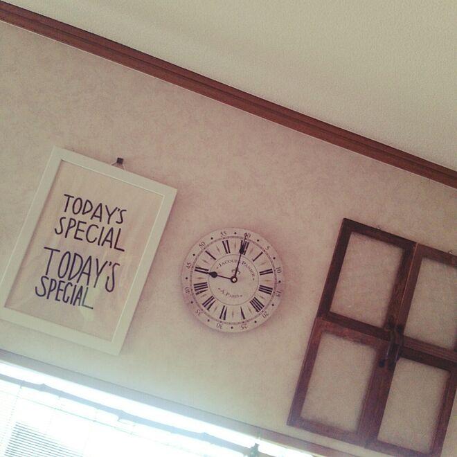 壁/天井/TODAY'S SPECIAL/300円SHOP/三日月百子/100均...などのインテリア実例 - 2016-03-10 09:05:29
