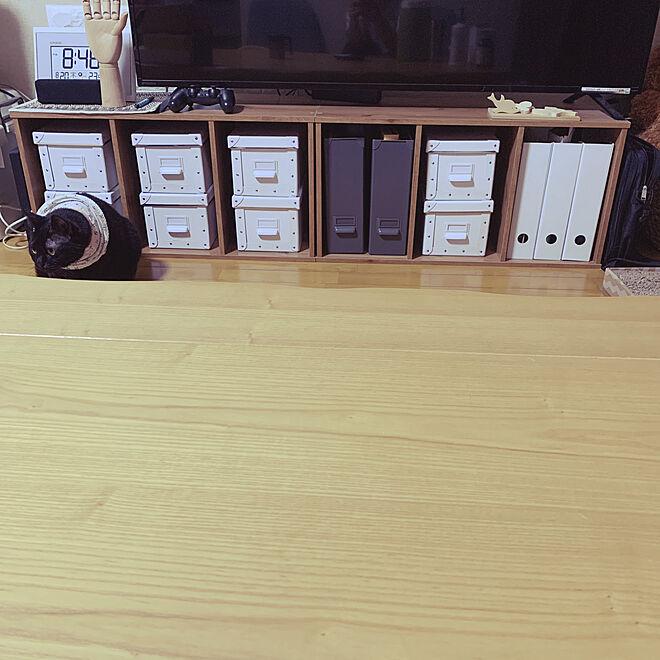 荒隠し/箱詰め収納/テレビボード/IKEA/棚のインテリア実例 - 2020-08-20 20:47:10