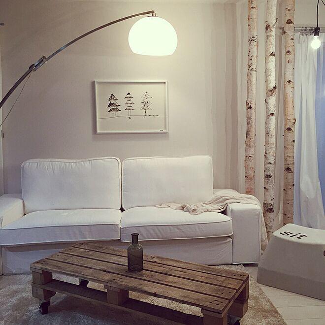 リビング/白樺の木/照明/アンティーク/IKEA...などのインテリア実例 - 2015-12-29 20:37:30