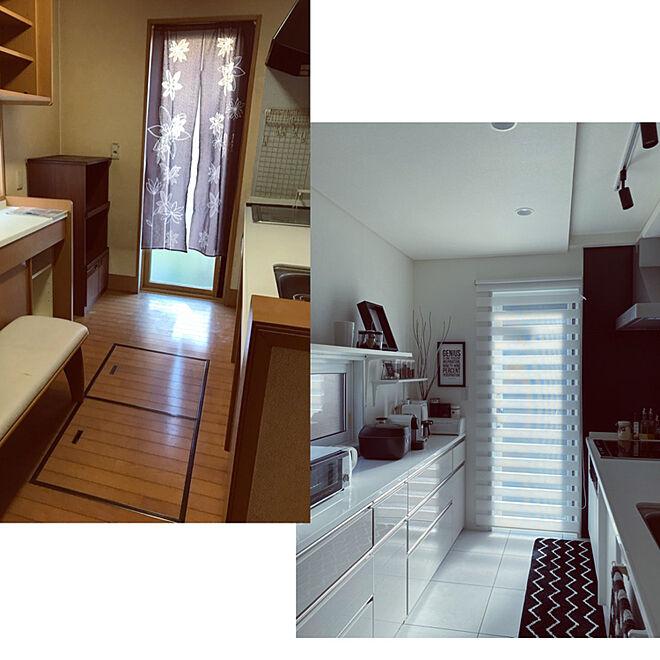 床貼り替え/床下収納埋めました/枠は塗装とスプレーに分けて/中古戸建てリフォーム/キッチンのインテリア実例 - 2021-03-06 08:23:21
