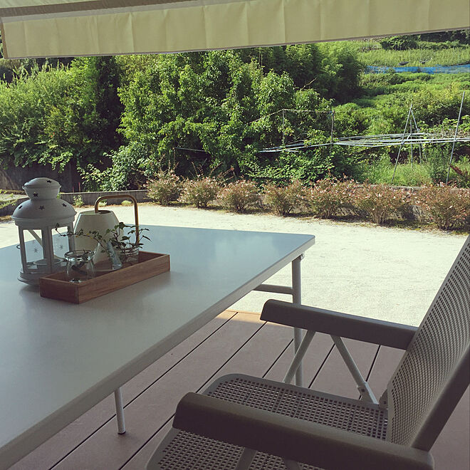 ガーデンテーブル&チェア/IKEA/テーブル/100均/カフェ風...などのインテリア実例 - 2021-06-25 12:55:17