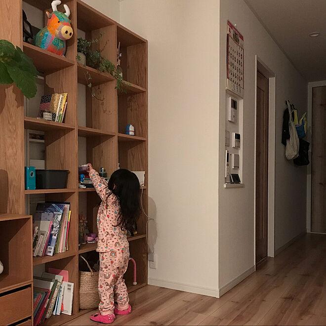 リビングダイニング/おもちゃ棚/おもちゃ収納/スタッキングシェルフ/無印良品...などのインテリア実例 - 2021-04-20 08:24:57