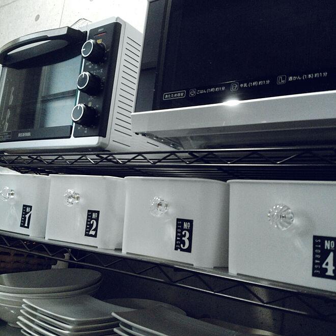 キッチン/10分でできる/セリア/白黒グレー/収納アイデア...などのインテリア実例 - 2017-09-18 16:40:06