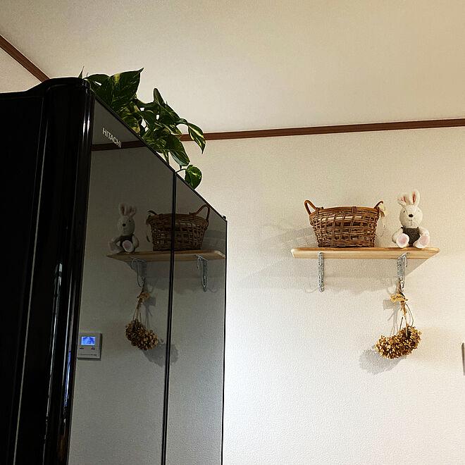 キッチン/冷蔵庫/HITACHIの冷蔵庫/ダイソー/❤︎ありがとう...などのインテリア実例 - 2021-05-17 06:21:56