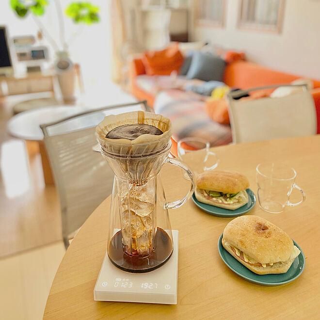 HARIO/ハリオ/アイスコーヒーメーカー/朝ごはん/コーヒーのある暮らし...などのインテリア実例 - 2021-07-29 08:06:07