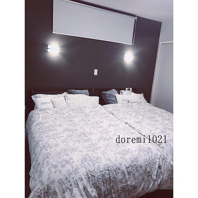 ベッド周り/遮光ロールスクリーン/ロールカーテン/睡眠第一/8畳...などのインテリア実例 - 2019-01-17 01:10:27