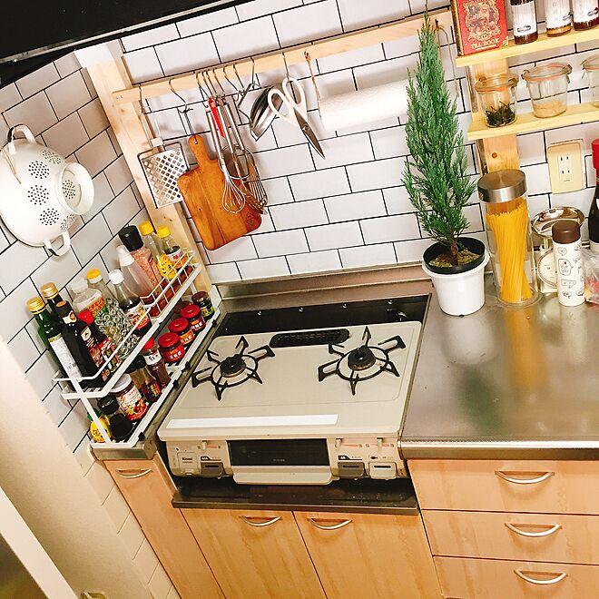 キッチン/グリーンのある暮らし/インテリアシート/IKEA/リンナイ...などのインテリア実例 - 2017-02-12 20:18:52