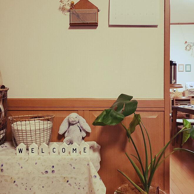 部屋全体/グリーンのある暮らし/おうちモチーフ/壁掛け/なちゅきち...などのインテリア実例 - 2019-09-20 22:25:02