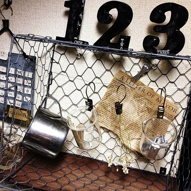 キッチン/カレンダー/調味料/吊り下げ/チキンネット...などのインテリア実例 - 2014-10-23 03:42:36