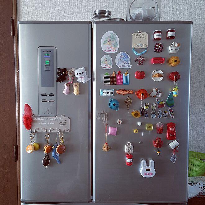 キッチン/冷蔵庫のマグネット/グリーンのある暮らし/シャビー/見せる収納...などのインテリア実例 - 2016-03-08 13:05:14