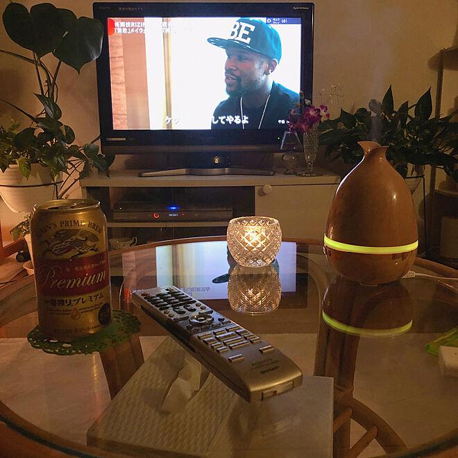 机/一番搾り/間接照明/観葉植物/加湿器...などのインテリア実例 - 2018-12-31 19:12:40