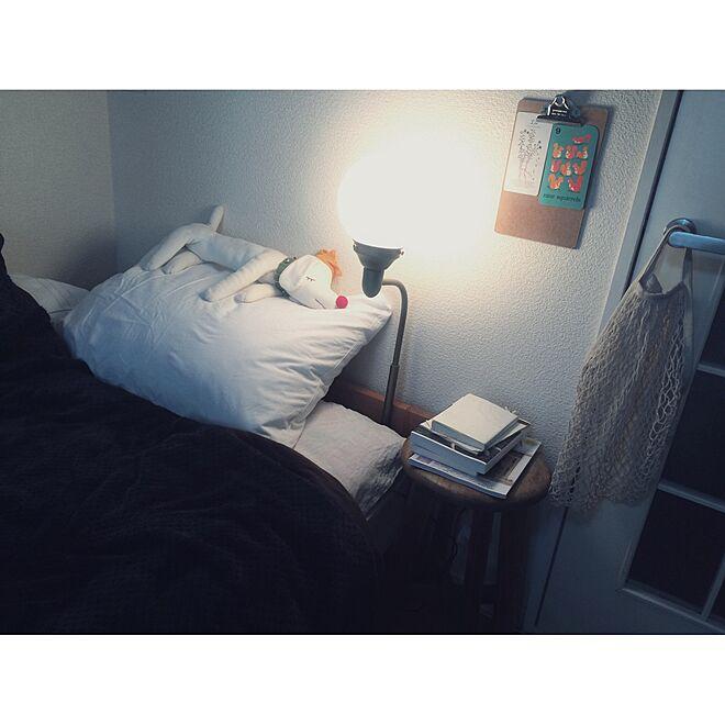 ベッド周り/アンティーク/一人暮らし/照明のインテリア実例 - 2016-03-14 20:47:54