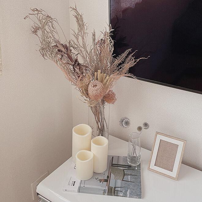 IKEA/北欧/お花/ホワイトインテリア/ドライフラワーのある暮らし...などのインテリア実例 - 2021-07-27 23:21:11
