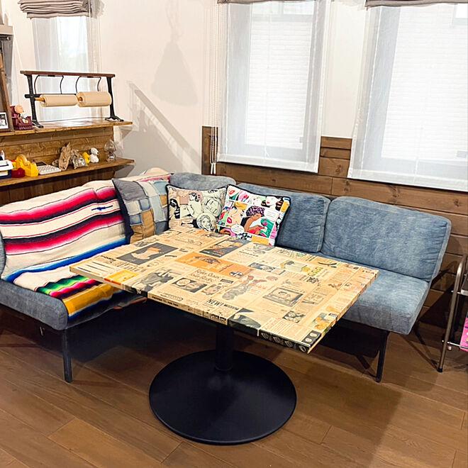 シェードカーテン/2階キッチン/2階リビング/オークの床/無垢の床...などのインテリア実例 - 2021-05-17 18:16:57