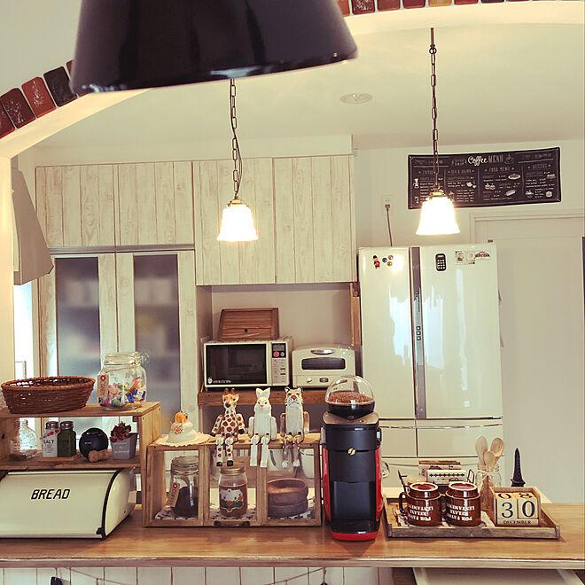 キッチン/キッチンリメイク/アーチ垂れ壁/カフェコーナー/バリスタ...などのインテリア実例 - 2018-12-30 15:28:01