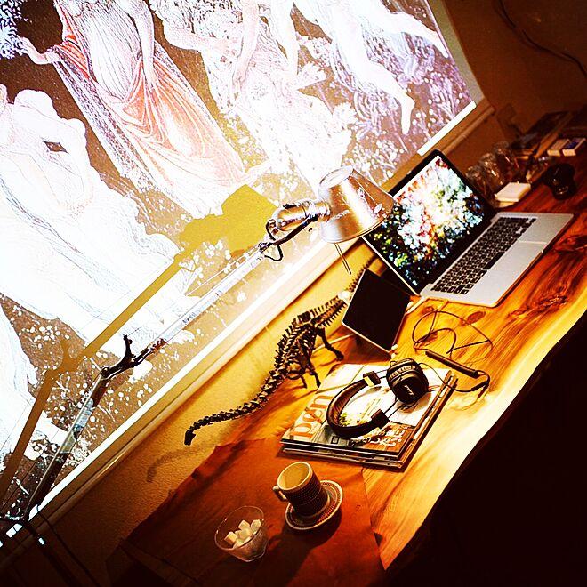 机/パソコン/雑貨/フィギュア/一人暮らしのインテリア実例 - 2016-03-05 00:38:44