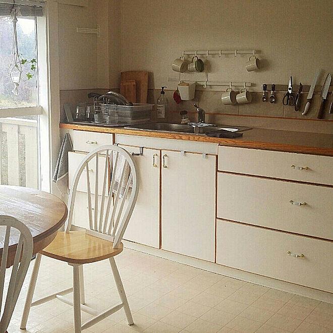 「築100年ならではの雰囲気を活かした、安らぐカフェ風キッチン」 by airaさん