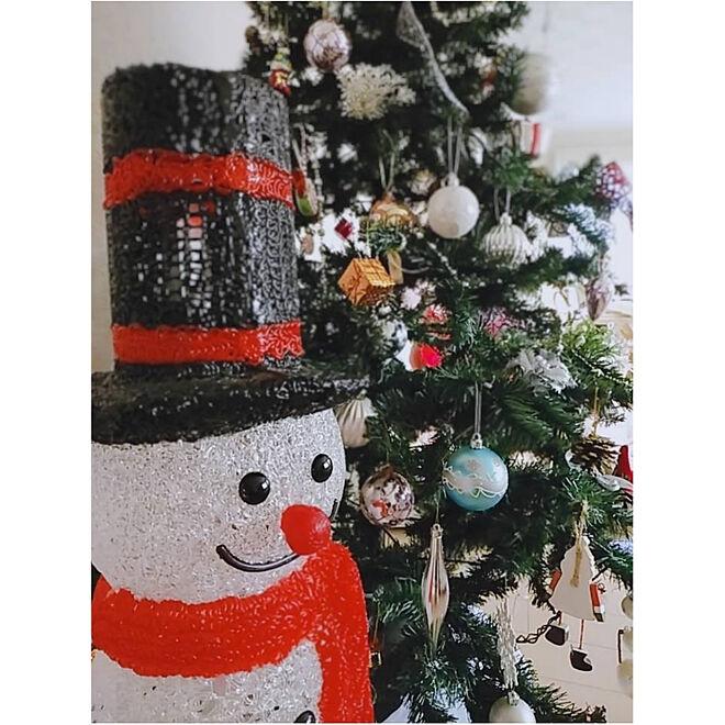 部屋全体/クリスマス/スノーマンライト/長年使い続けているオーナメント/百均...などのインテリア実例 - 2019-12-03 23:03:12