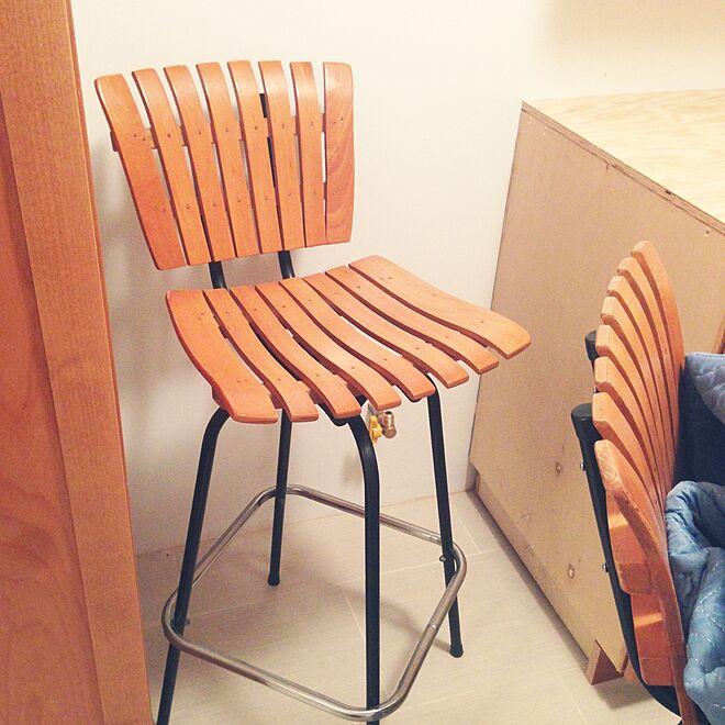 キッチン/バースツール/椅子/リノベーション中/築40年以上...などのインテリア実例 - 2016-03-19 13:41:08