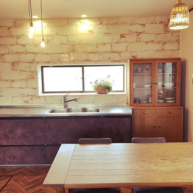 「10年愛用家具と共にリニューアル。ヴィンテージスタイルキッチン」 by rireさん