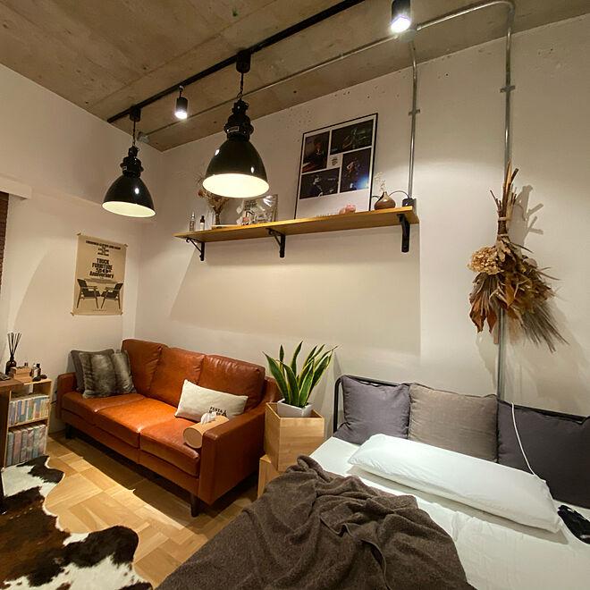 「24m2。質感と色味の合わせにこだわった、心地良いインダストリアル空間」 by Asairiさん