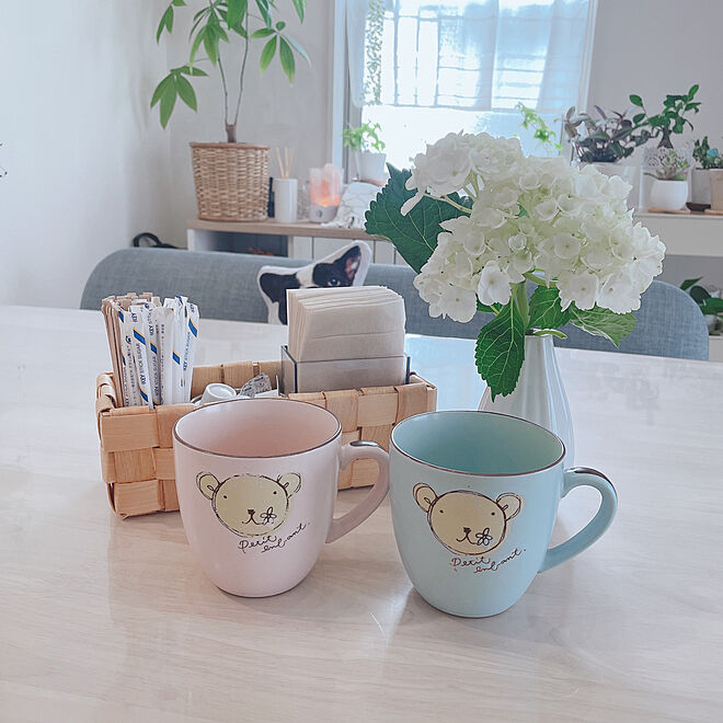 365日コーヒー/クマさん/ブルー/ピンク/震災にも耐えたマグ...などのインテリア実例 - 2021-04-16 07:52:32