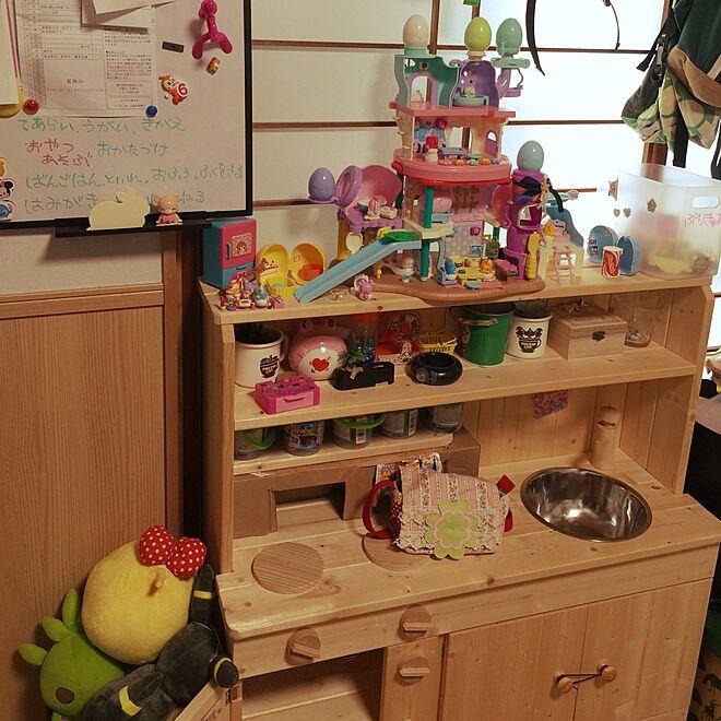 ここたま/ここたまハウス/子供キッチンDIY/子供キッチン手作り/子供と暮らす。...などのインテリア実例 - 2016-07-24 12:20:46