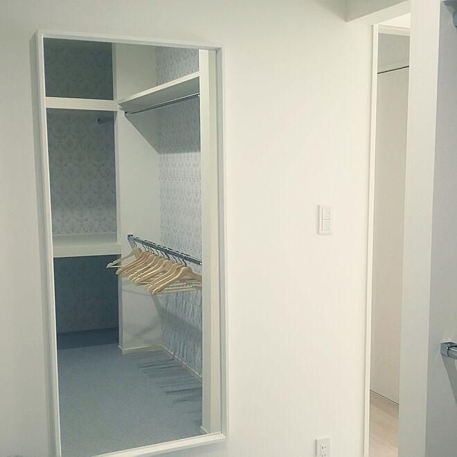 ベッド周り/ウォークインクローゼット/IKEA/姿見鏡/持ち込み家具のインテリア実例 - 2019-05-31 11:11:46