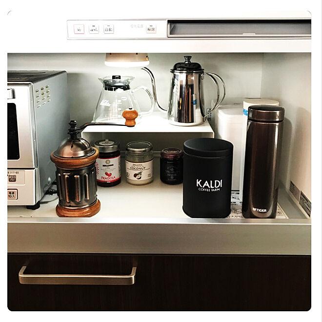 棚/お気に入りスペース/コーヒーケトル/コーヒーサーバー/カリタ...などのインテリア実例 - 2017-11-10 12:07:25