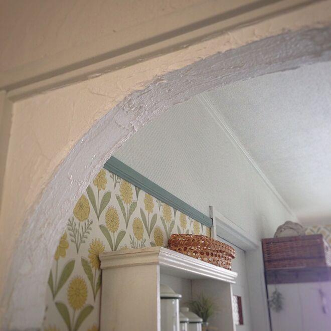 壁/天井/アーチ壁/DIY/漆喰壁/ナチュラルのインテリア実例 - 2016-03-13 11:43:35