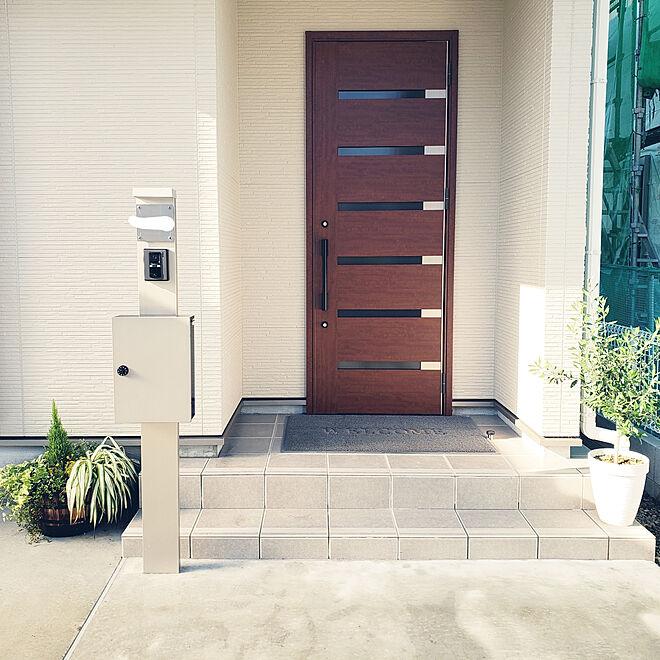 玄関/入り口/玄関/ガーデニング/オリーブ/ドアのインテリア実例 - 2018-09-27 21:52:42