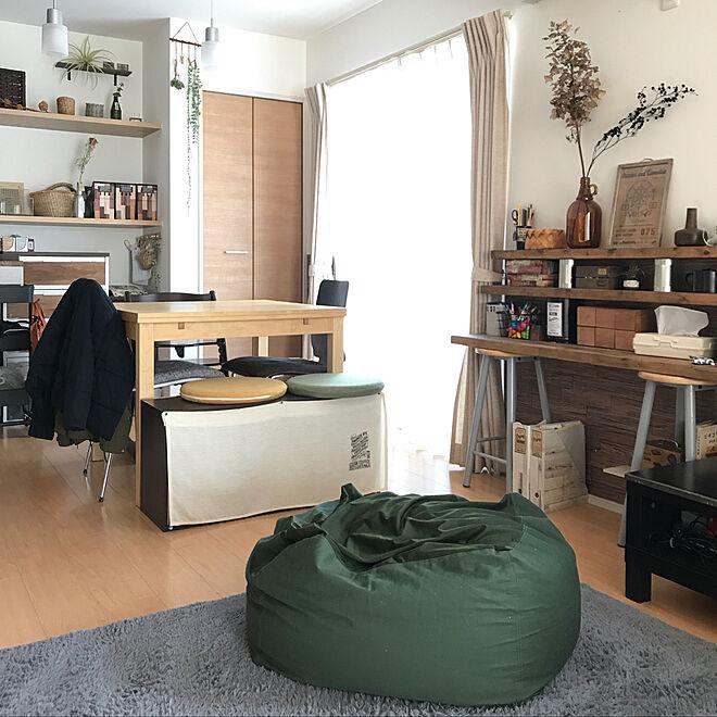 部屋全体/カフェ風/建売住宅/乗せただけ棚/IKEAのダイニングテーブル...などのインテリア実例 - 2018-01-17 08:53:38