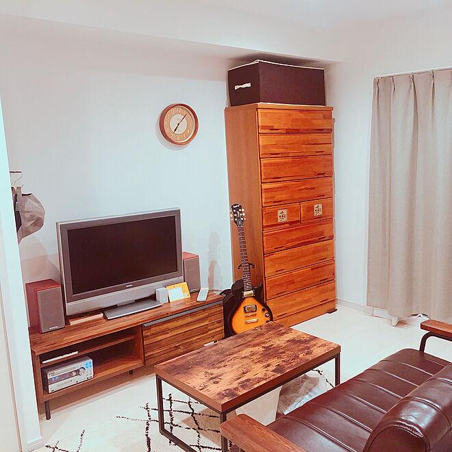部屋全体/unico/unicoラグ/unico TVボード/1K...などのインテリア実例 - 2019-09-23 11:18:17
