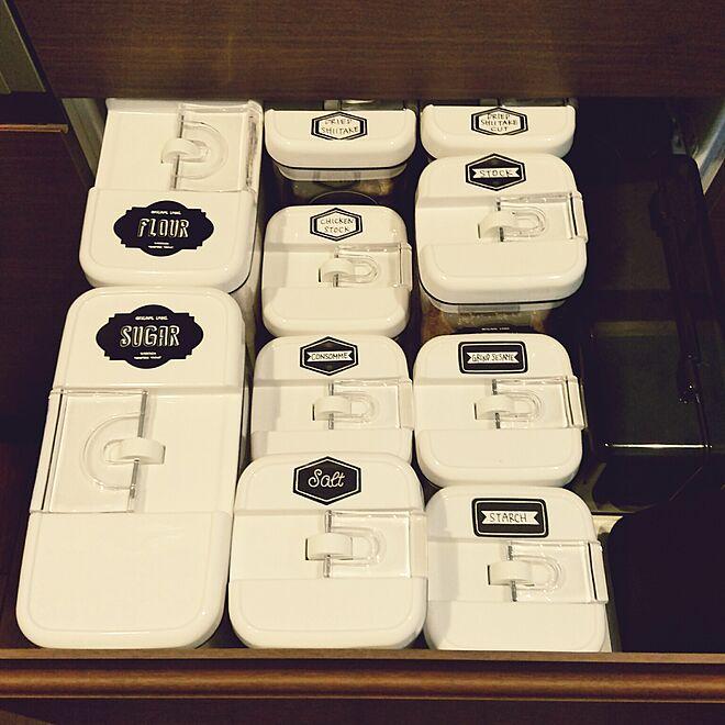 詰め替え/調味料/カインズ/引き出し収納/IKEA...などのインテリア実例 - 2017-03-24 17:45:54