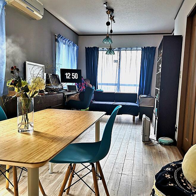 「31m2。ブルーの蝶々が飛ぶ、手をかけアレンジした暮らしやすい部屋」 by tmさん