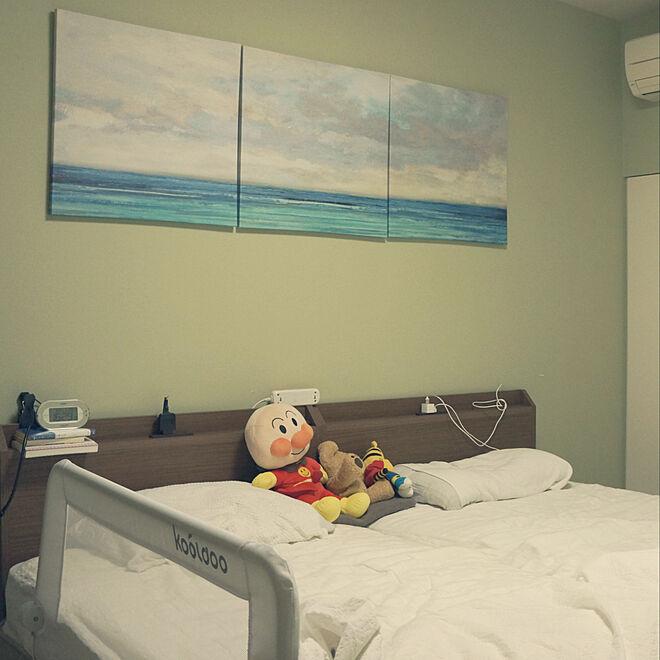 IKEA/ニトリ/アートのある部屋/ベッド周りのインテリア実例 - 2019-09-21 16:35:41
