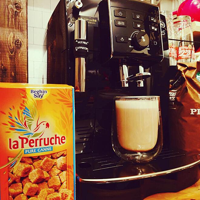 キッチン/カフェコーナー/スタバ/KALDI/デロンギコーヒーメーカー...などのインテリア実例 - 2021-03-05 23:51:23