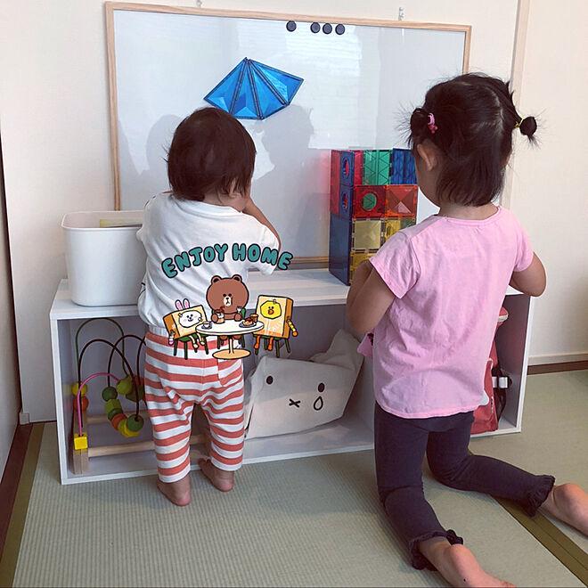 姉弟おもちゃ/姉弟育児中/おもちゃ収納/IKEAオモチャ/kitwell...などのインテリア実例 - 2021-06-20 09:58:52