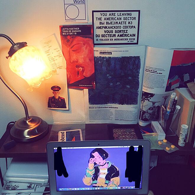 机/一人暮らし/アート/大学生 一人暮らし/ストリート...などのインテリア実例 - 2019-01-17 21:55:46
